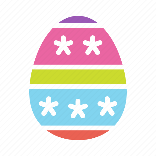 decorated, decoration, dots, easter, egg, paschal, stripes icon