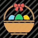 basket, bowl, decoration, easter, egg, eggs, ribbon