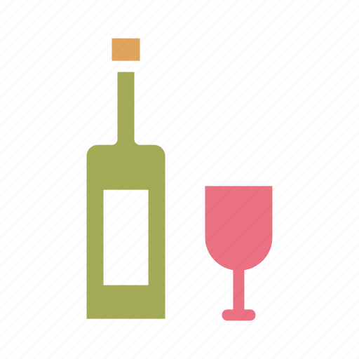 Bottle, celebrate, celebration, drink, glass, wine, party icon - Download on Iconfinder