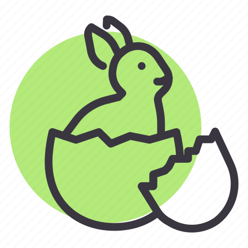 Bunny, cute, easter, egg, hatch, rabbit icon - Download on Iconfinder