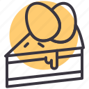 bakery, cake, dessert, easter, egg, paschal, slice icon