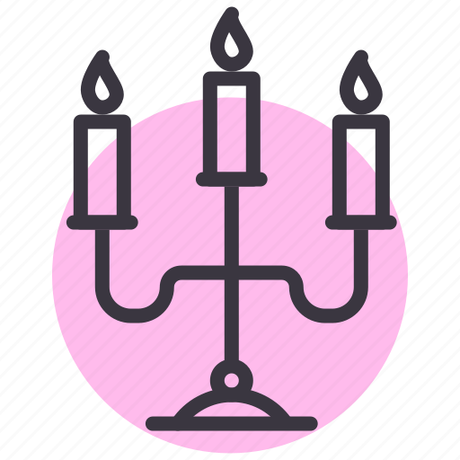 candelabra, candle, christmas, church, dinner, easter, light icon