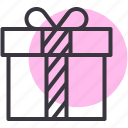 birthday, box, celebration, christmas, gift, present, presentation icon