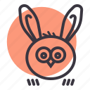bunny, ears, easter, owl, rabbit icon