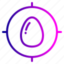 achieve, aim, easter, egg, goal, target icon