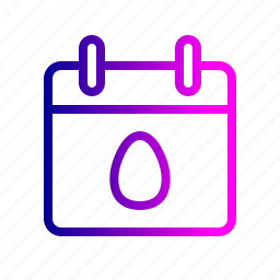 calendar, celebrate, day, easter, month, party icon