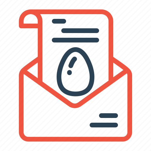 easter, egg, email, invitation, mail, party, write icon