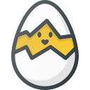 break, broken, chicken, egg icon