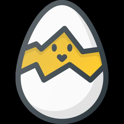break, broken, chicken, egg icon