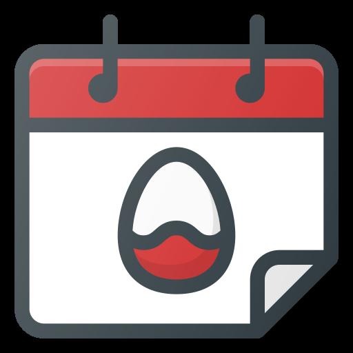 Calendar, holiday, easter, celebration icon
