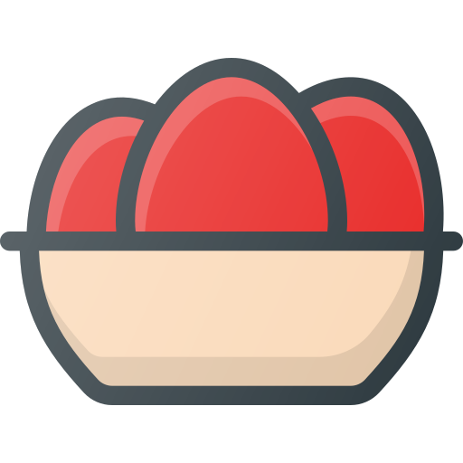 basket, easter, eggs, plate icon