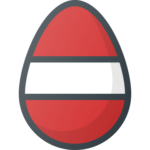colored, decoration, easter, egg icon