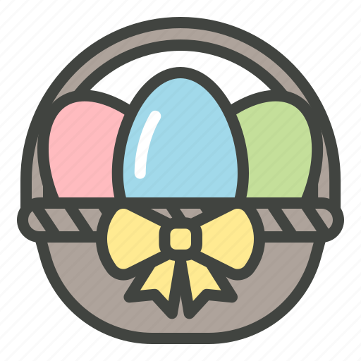 basket, christianity, decoration, easter, eggs icon
