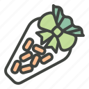 candy, carrots, decoration, easter, easter food, snack icon