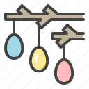 christianity, decoration, easter, easter egg, egg, tree icon