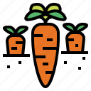 carrot, diet, food, vegetable icon