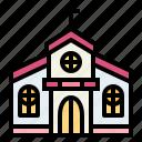 chapel, christian, church, religion icon