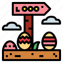 easter, egg, love, nature icon