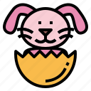 bunny, easter, mammal, pet, rabbit icon