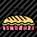 bakery, dessert, pie, sweet