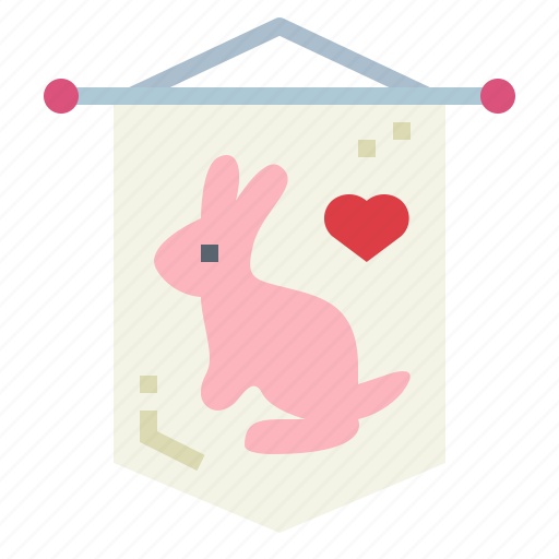 easter, flag, rabbit, symbol icon