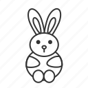 animal, easter, rabbit