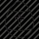 cross, cross egg, easter, egg, eggs, spring icon