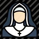 catholic, christian, female, nun, sister