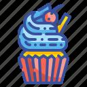 cake, cupcake, dessert, food, icing, pudding, sweet icon