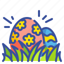 culture, decoration, easter, egg, grass, nature, ornamental icon