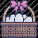basket, easter, egg, eggs, food, hunt icon