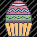 celebration, decor, decorated, decoration, easter, egg icon