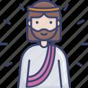 avatar, jesus, man, religion, religious, spritual icon