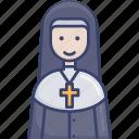 nun, religion, religious, spiritual, woman, worship