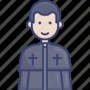 man, priest, religion, religious, spiritual, worship icon