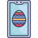 device, easter, egg, electronic, occasion, smartphone icon