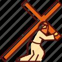 cross, carrying cross, jesus, easter, christ, religion, christian