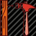 hammer, nail, hammer and nail, tool, cross, easter, wood
