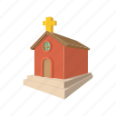 building, cartoon, church, cross, easter, egg, religion icon