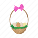 cartoon, easter, egg, holiday, paint, season, spring icon