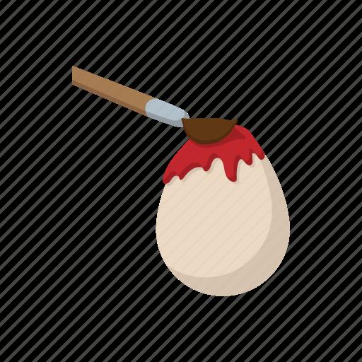 brush, cartoon, color, easter, egg, paint, white icon