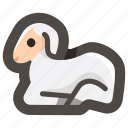 animal, christ, easter, jesus, lamb, ram, sheep icon