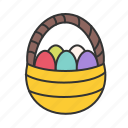 easter, eggs, basket