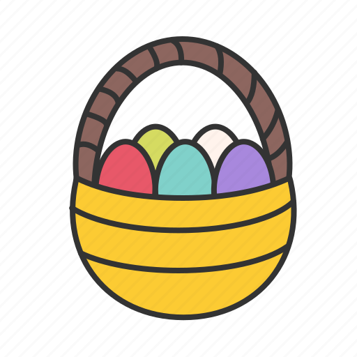 busket, easter, eggs icon
