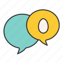 chat, comment, commuication, easter, egg icon