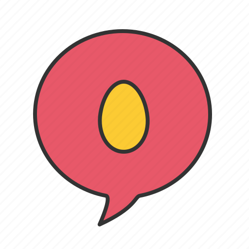 comment, easter, egg icon