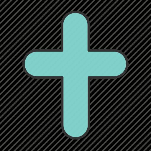 church, cross, easter icon