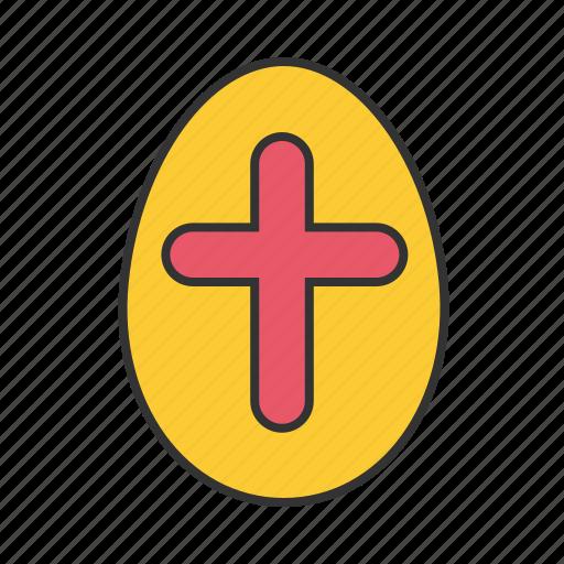 cross, easter, egg icon