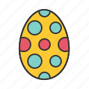decoration, draw, easter, egg icon