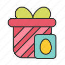 card, easter, egg, gift icon